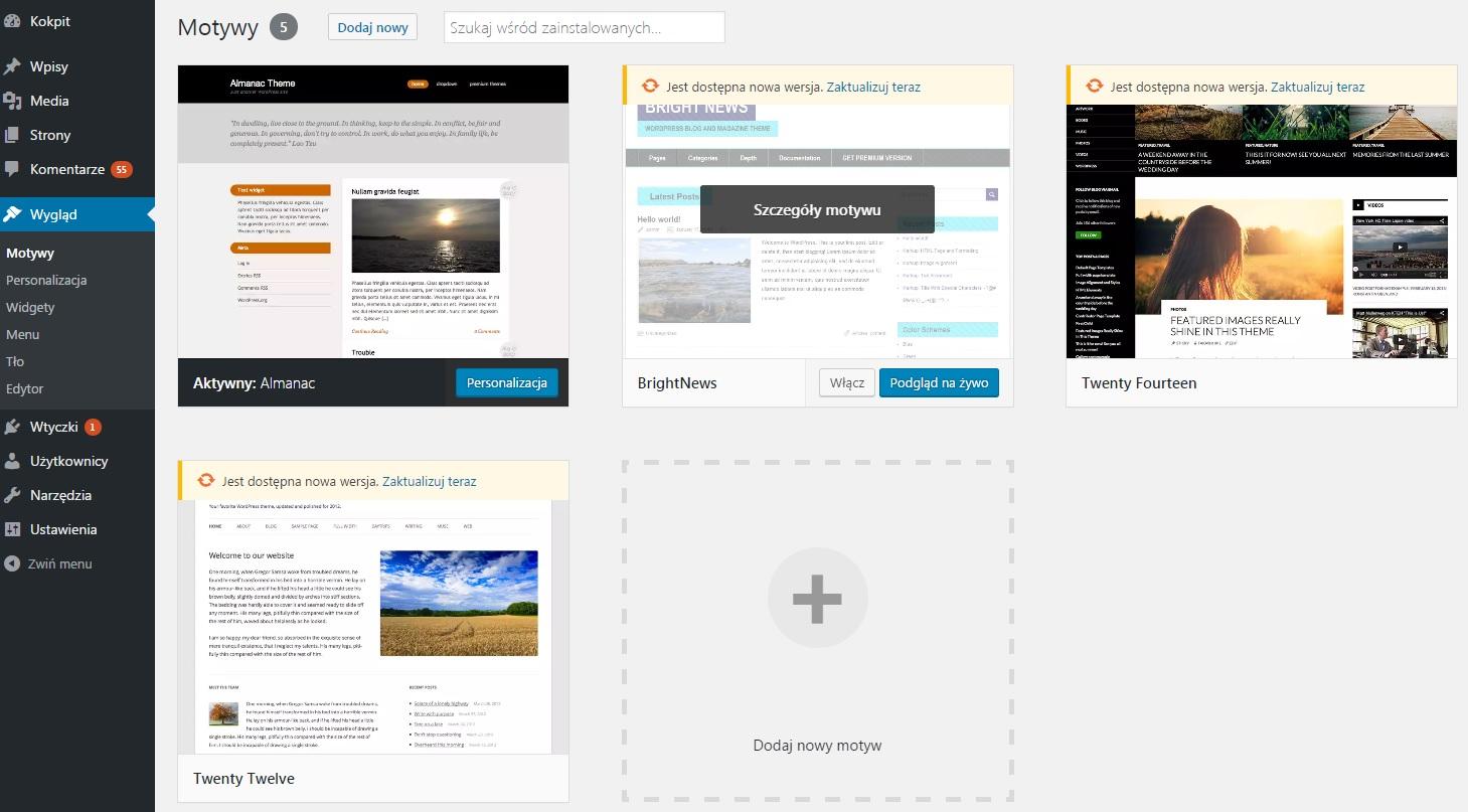 Jak zatrzymać aktualizację motywu wordpress?